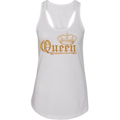 WILD Queen Crown TANK Top GOLD Crown King Gym Single Lady Tank Top King Tee