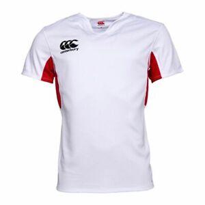 Canterbury Mens Quick Drying Vapodri Challenge Jersey (White/FlagRed)