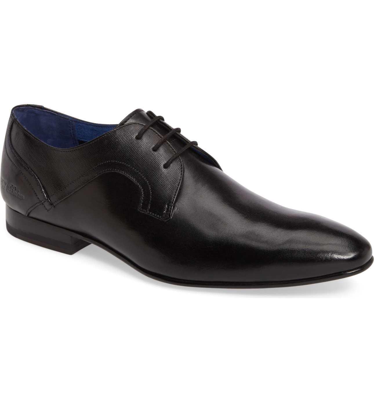 Ted Baker de los Hombres de Londres Pelton Cuero Negro Oxford Zapato de Vestir