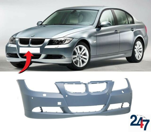 New Bmw 3 Series E90 E91 2005 2008 Front Bumper With Light Washer And Pdc Holes