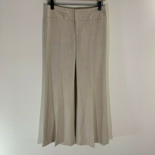 Alice and Olivia Wool Linen Wide Leg Trouser Pants