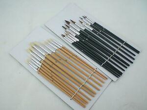 24PC-artistas Acrílicos Colores pintura cepillo conjunto cepillos artesanías finas Tamaños Kit Nuevo  </span>