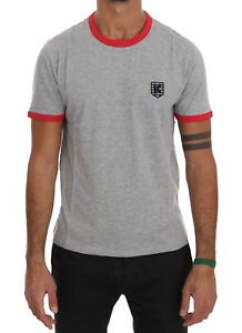 NEW-180-KENZO-T-shirt-Beachwear-Gray-Red-Cotton-Short-Sleeve-Mens-Top-s-L