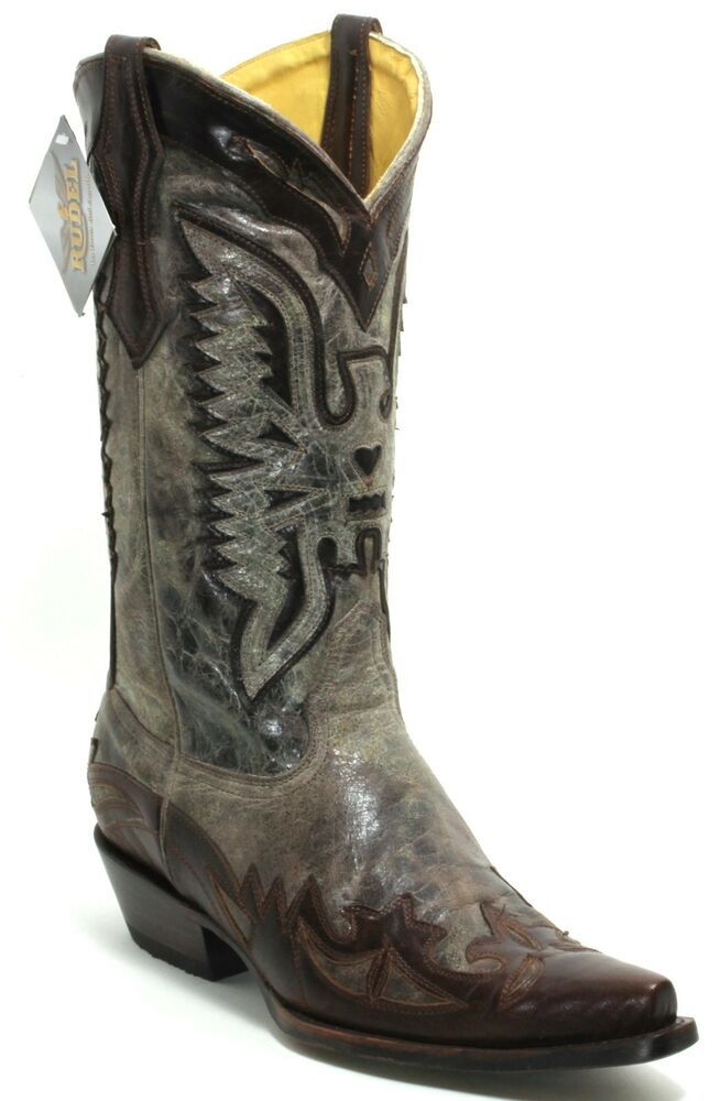 131 Bottes De Cowboy Western Bottes Texas Bottes Western Bottes En Cuir Rudel 45