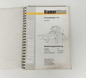 Kramer Glisseur 712 Pelleteuse Manuel Original 1995-ung Original 1995 Fr-fr Afficher Le Titre D'origine
