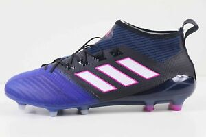 Adidas Ace 17.1 Primeknit FG Black White Blue BB4315 New in Box  551ec268cef3