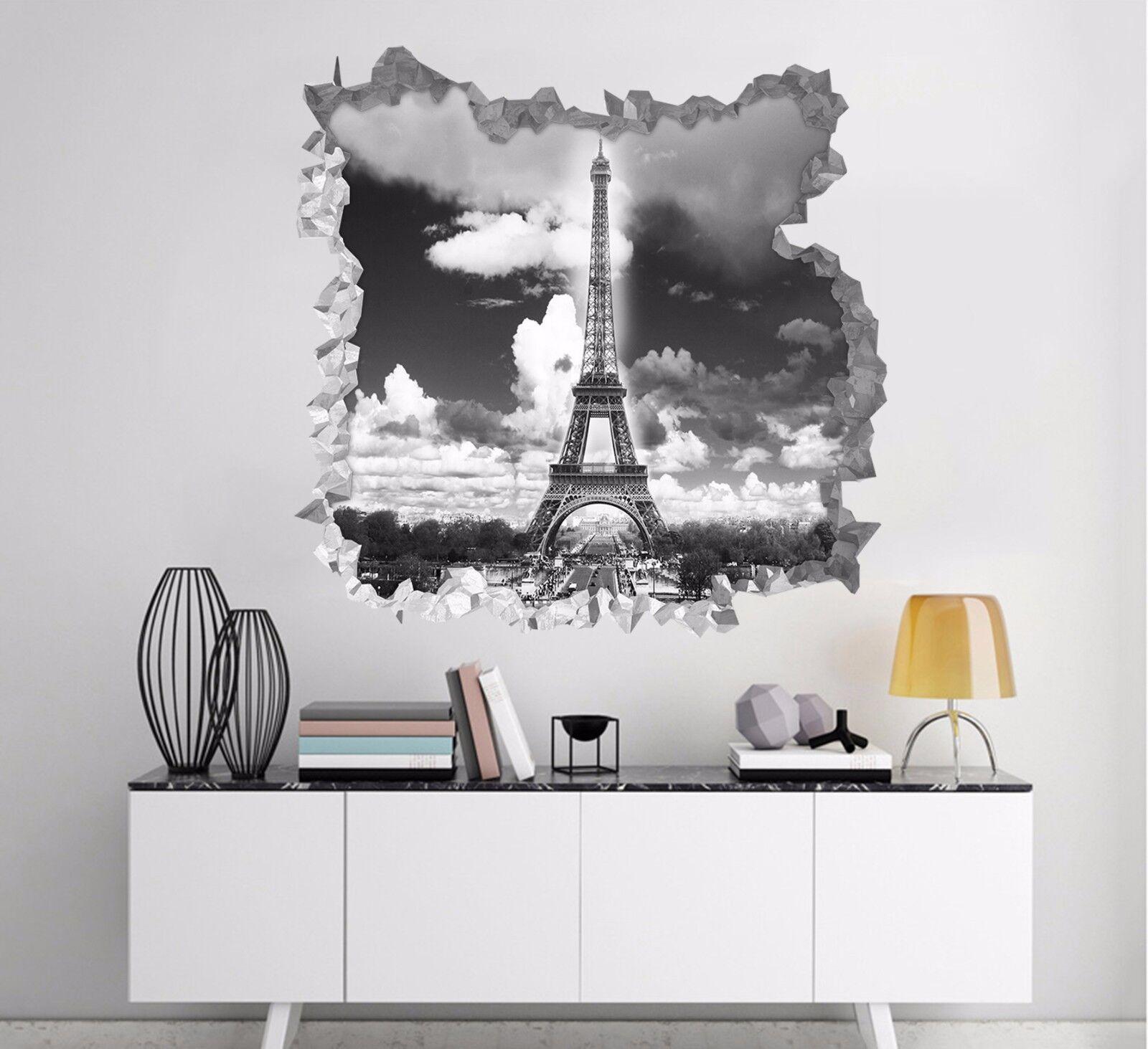 3D Torre Eiffel di Parigi 283 Parete Murales Parete Adesivi Decal Sfondamento IT