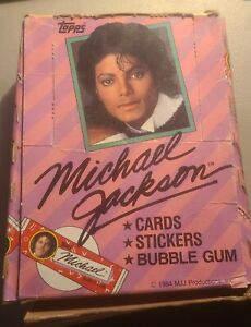 1984 Michael JACKSON Topps Trading Cards new w/box + more!!