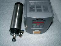 water-cooling 1500w 220v er11 cnc spindle motor+inverter vfd+65mm bracket clamp