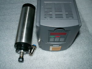 WATER-COOLED-80MM-1-5KW-ER11-COLLET-SPINDLE-MOTOR-AND-MATCHING-INVERTER-VFD-CNC