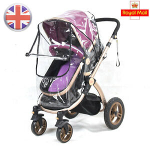 Waterproof Raincoat For Stroller Dust Rain Wind Shield Cover Universal Size Transparent Ventilation Cover Baby Pram Accessories Mother & Kids