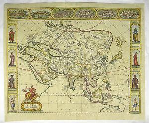 Karte Russland Asien.Details Zu Kontinent Asien China Russland Kupferstich Karte Map Of Asia De Wit 1690 C840s