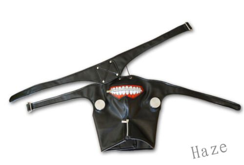 Cosplay Tokyo Ghoul Kaneki Ken Adjustable Zipper Masks PU Leather Mask