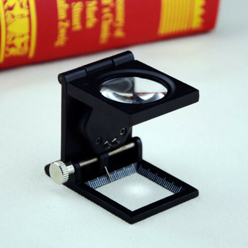 10X Magnifying Glass Magnifier Loupe Counter Stamps Mini LED Inspection Jewelers