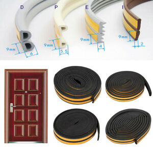 5M-D-E-P-I-Type-Foam-Weather-Draught-Excluder-Self-Adhesive-Window-Seal-Strip-AU