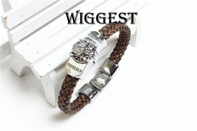 Final Fantasy VII FF7 Cloud Wolf Head Bracelet Punk Leather Wrist Band
