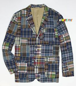 6eb52a04 NWT Polo Ralph Lauren Men's Patchwork Madras Custom Fit Sport Coat ...
