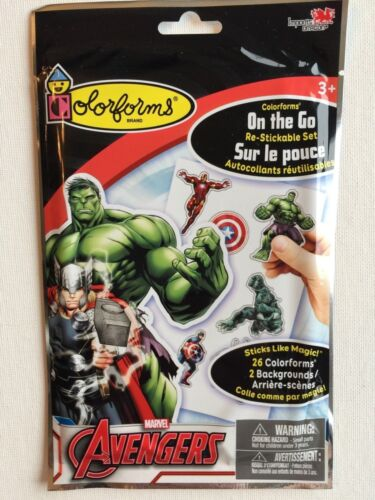 Restickable Colorforms On the Go Set Marvel Avengers