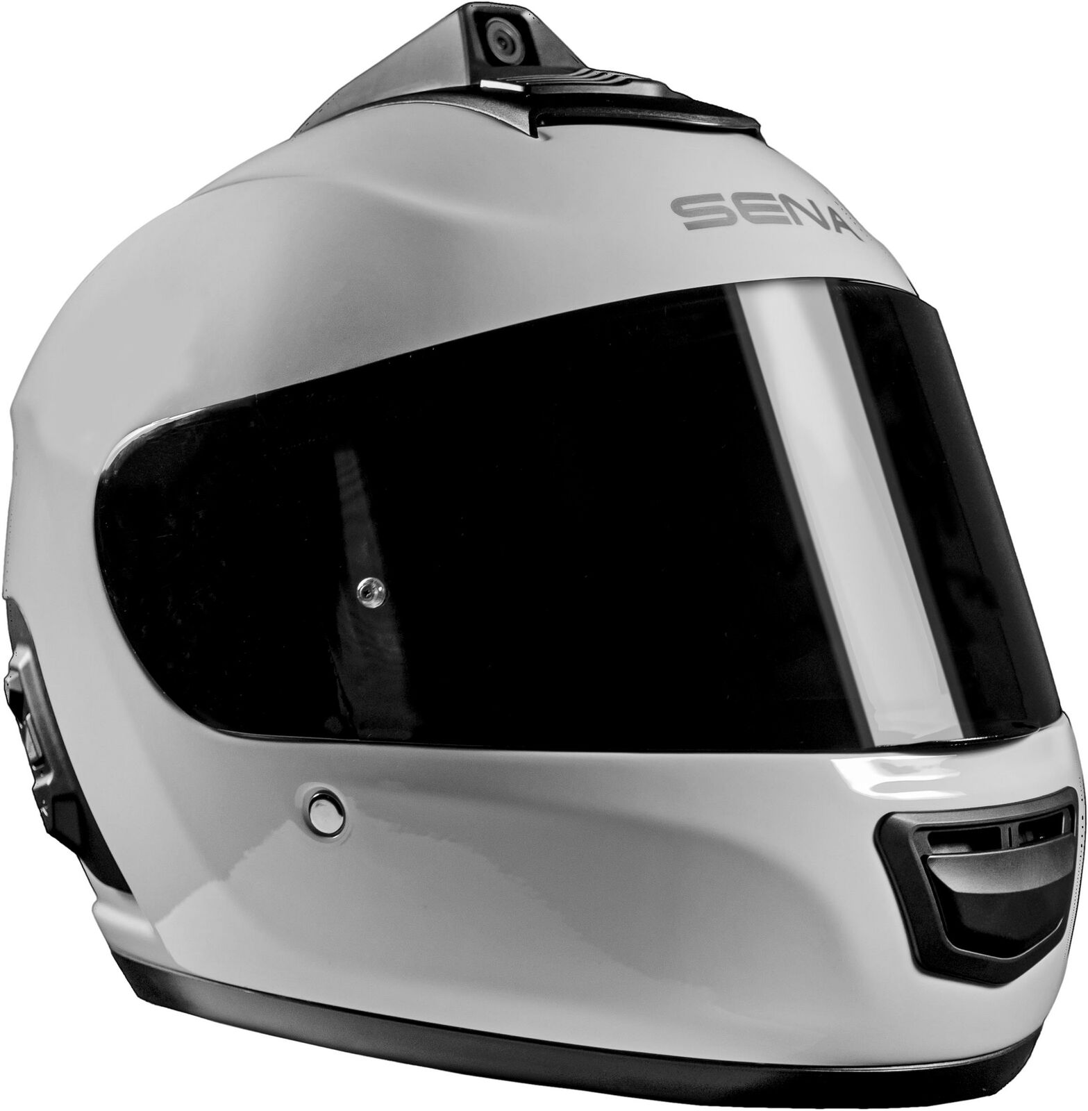 SENA MOMENTUM PRO DUAL BLUETOOTH CAMERA HELMET GLOSSY WHITE MD MO-PRO-GW-M-01 bluetooth camera dual Featured glossy helmet momentum pro sena white