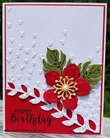 Happy Birthday Handmade Card Kit, Stampin' Up Botanical Blooms, Flower