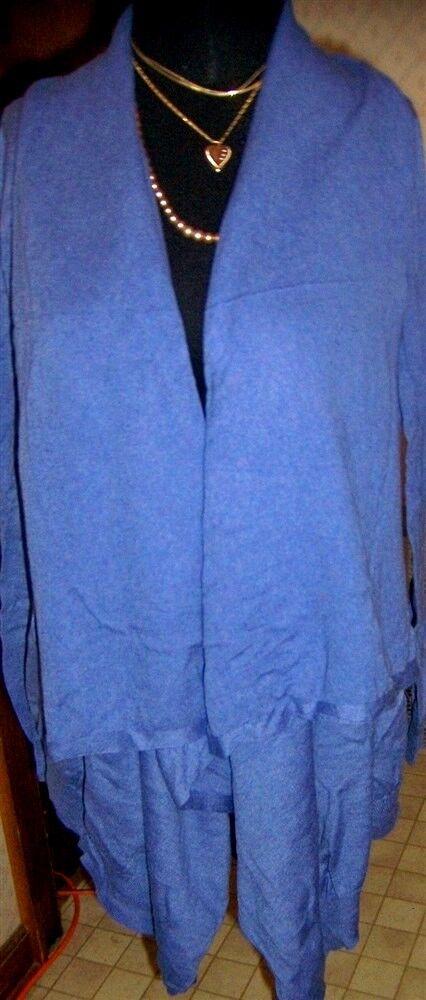 Cardigan Sweater Victoria Secret Heather bluee 272513 Misses size Small New