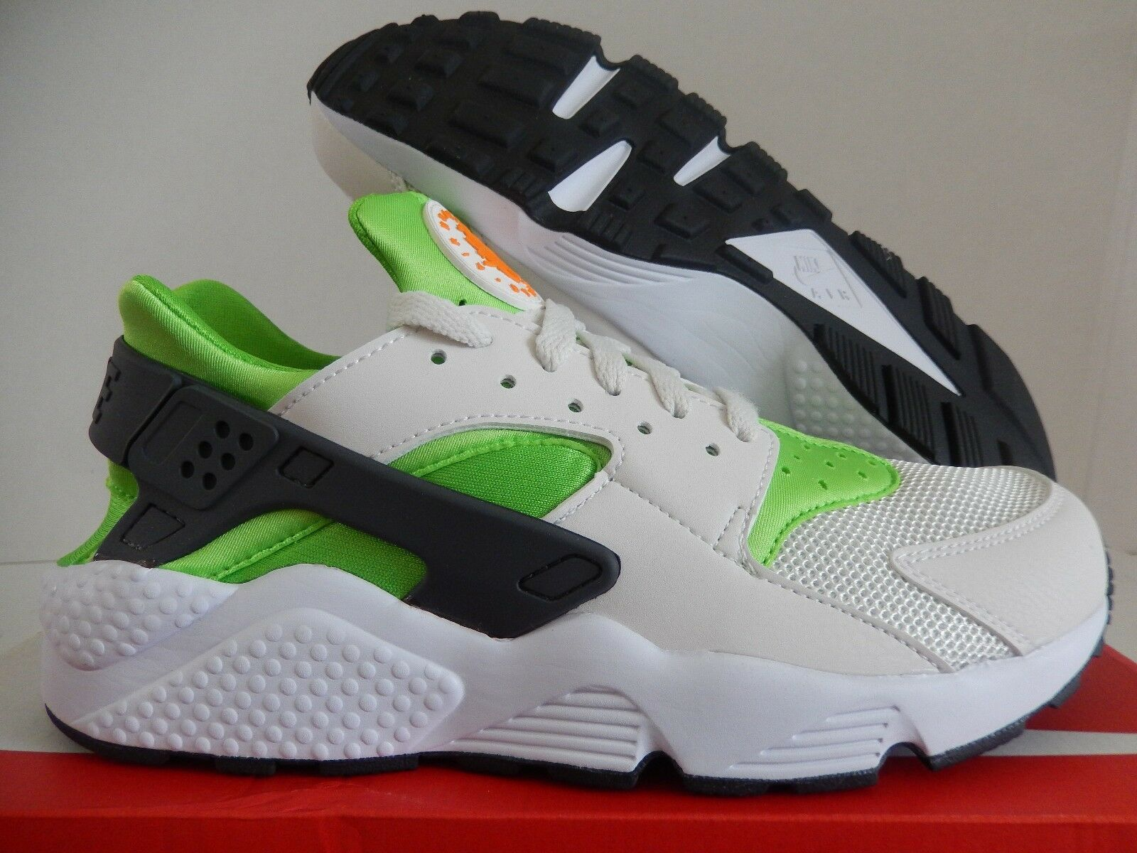 NIKE AIR HUARACHE ACTION GREEN-ORANGE-WHITE Price reduction Great discount