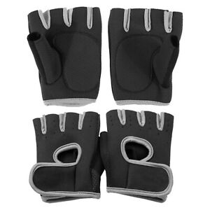 Fitness-Gym-Weightlifting-Sticky-Glove-Wrist-Support-Finger-less-Sport-Training