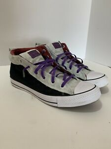 Womens-12-Converse-Chuck-Taylor-Custom-Shoes-Black-Purple-Glitter