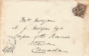 Victoria-BC-1877-Small-Queen-Cover-6-Cent-Double-Rate-To-Ottawa-Canada
