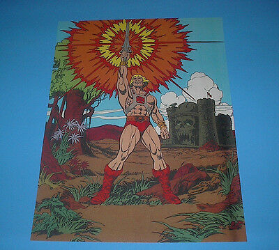 HE-MAN MASTERS OF THE UNIVERSE POSTER PIN UP