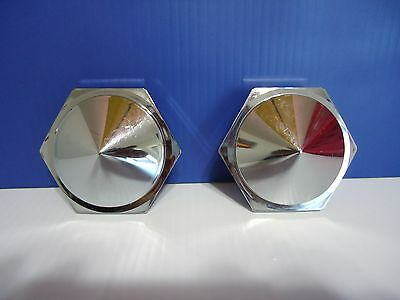 LOT SET 4 SUMMIT RACING CENTER CAP ALUMINUM POLISHED SNAP ON CLOSED END #89-0630