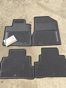New Oem Nissan Murano 2015 2017 Chocolate All Weather Rubber Floor Mat Set Ebay