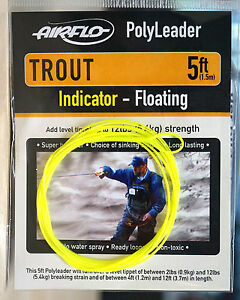AIRFLO-Polyleader-TROUT-5ft-1-50-Mtr-INDICATOR-FLOATING