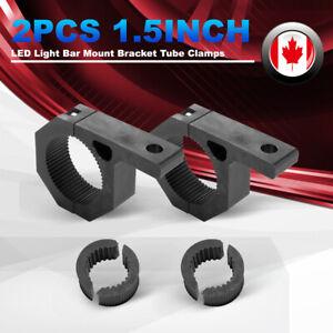 2Pcs LED Light Bar Mount Bracket Tube Clamps w/Rubber Insert For 1.5inch Tube
