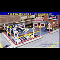 N Scale: a-to-z Used Car Lot - Kit 097 By Blair Line