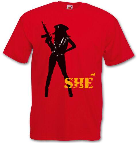 SHÉ GUERILLA LOGO T-SHIRT Machete Che Guevara Kills Danny Again Trejo T-Shirt