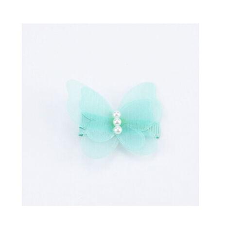 2Pcs Baby Kids Chiffon Butterfly Princess Hair Pin Headwear Hair Clips FEH