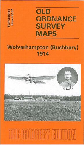 OLD ORDNANCE SURVEY MAP WOLVERHAMPTON BUSHBURY 1914 DUNSTALL PARK TETTENHALL