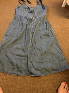 Warehouse-Denim-Dress-Size-12