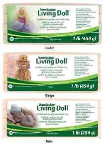 SCULPEY-Living-Doll-Clay-Polymer-1-lb-CHOOSE-Beige-Light-Baby