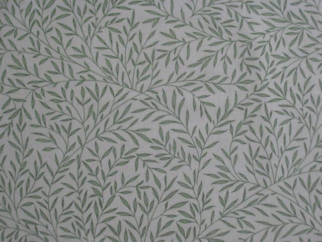 "WILLIAM MORRIS CURTAIN FABRIC DESIGN  ""Lily Leaf"" 1.4 METRES OLIVE 100% COTTON"