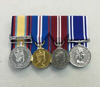 Court Mounted Medals Full Size, Gulf War, Golden & Diamond Jubilee, Police LSGC