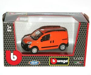 4f7e7525f4 Image is loading Burago-FIAT-FIORINO-VAN-Orange-Diecast-Model-Scale-