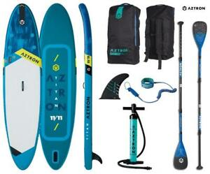 AZTRON TITAN 11.11 inflatable SUP Stand up Paddle Board mit Power Carbon 70 Padd
