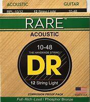 Dr Strings Rare Phosphor Acoustic Guitar Strings 12-String