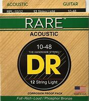 Dr Rpl-10/12 Acoustic Guitar Strings Rare 12-string Set