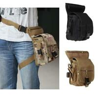 Outdoor Tactical Military Drop Leg Bag Panel Utility Waist Belt Pouch Us M9g4