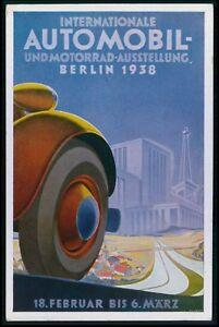 advertising automobile Exposicion Berlin futurist original ...