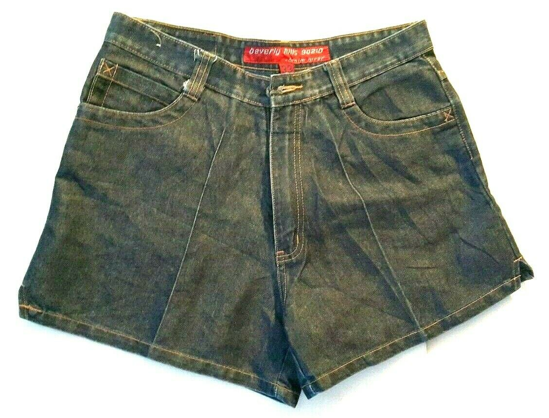 Beverly Hills 90210 Womens bluee Denim Jeans Shorts Vintage Size 33 Made in USA