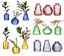 thumbnail 8 - Sass & Belle Set of 3 Glass Bud Vases Amber Pink Glass Flower Vase Pot Holder